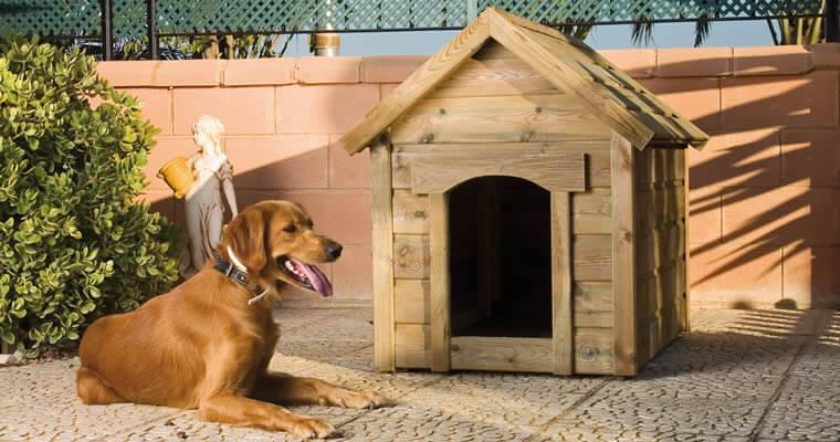 Casas de madera para perros for Ahuyentar perros del jardin